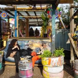 El excéntrico Street art en Nommadic Community Garden