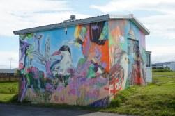 La ciudad de Hellissandur, con su incipiente street art