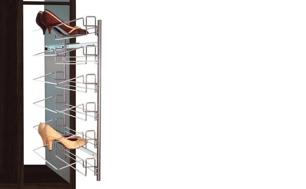Accesorios para interiores de armarios como zapateros