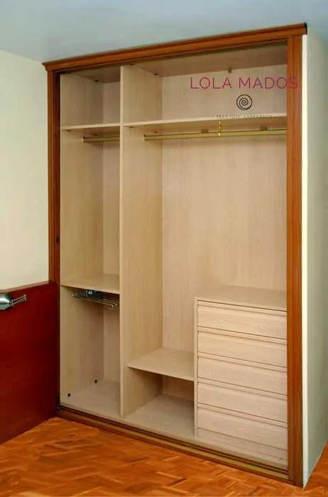 Hacer interior de armarios empotrados a medida  Lola Mados
