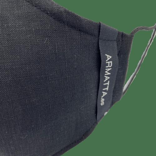 Mascarilla lino negro 2