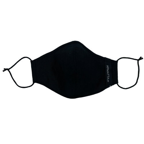 Mascarilla lino negro 4