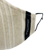 Mascarilla lino rayas con lúrex 2