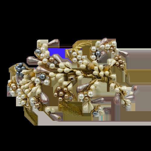 Diadema de porcelana dorada 2