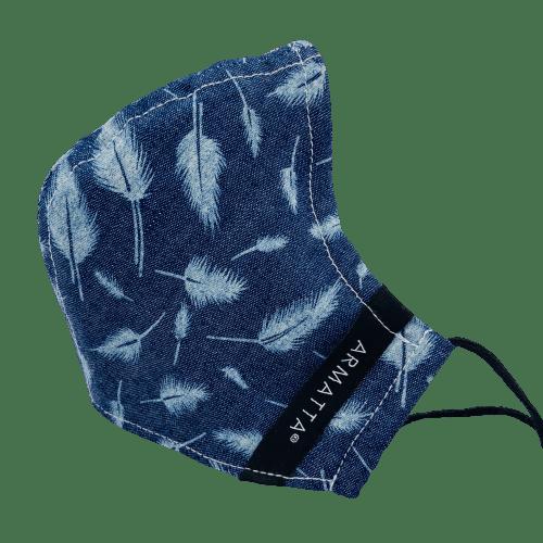 Mascarilla Azul plumas ARMATTA 3
