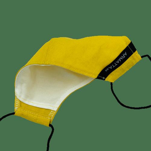 Mascarilla de lino amarillo ARMATTA 3
