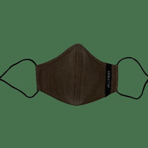 Mascarilla lino marrón ARMATTA 5