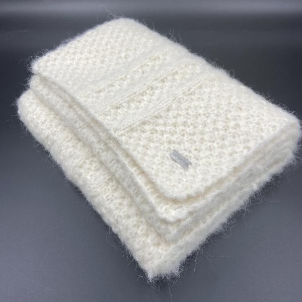 Bufanda de alpaca blanca ARMATTA 3