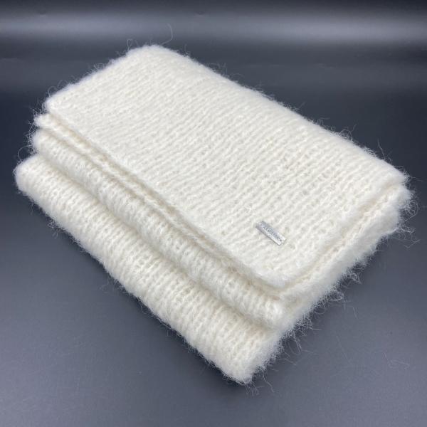Bufanda de alpaca blanca ARMATTA 4