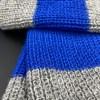 Bufanda de alpaca rayas azules ARMATTA 4