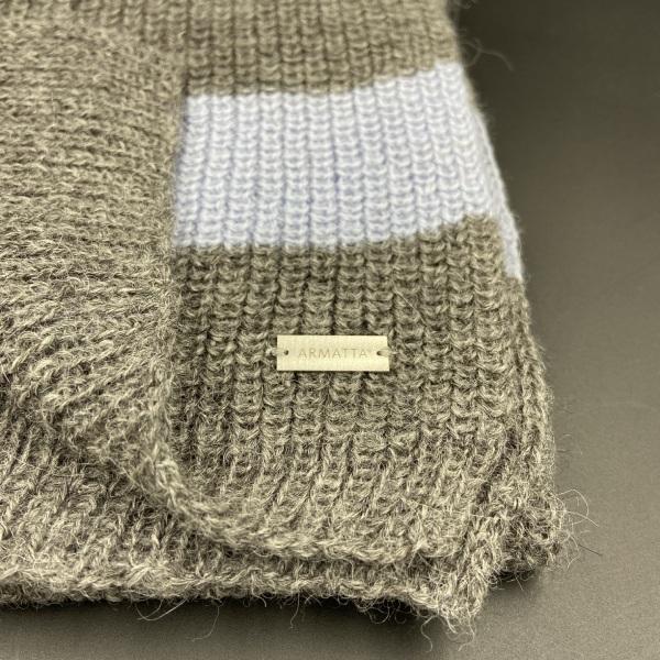 Bufanda de alpaca rayas grises ARMATTA 2