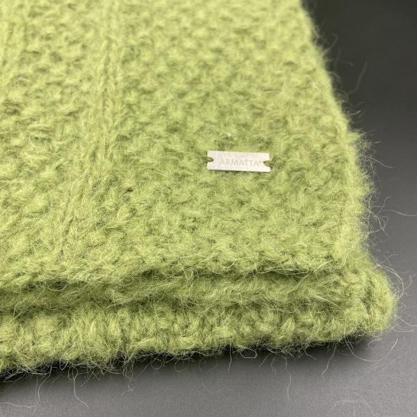Bufanda de alpaca verde ARMATTA 2