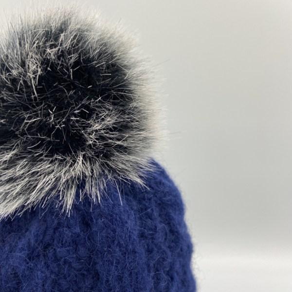 Gorro alpaca trenza azul ARMATTA 4