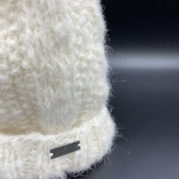 Gorro alpaca trenza blanca ARMATTA 2