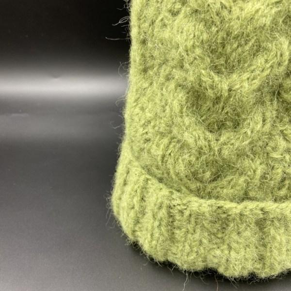 Gorro alpaca trenza verde ARMATTA 2