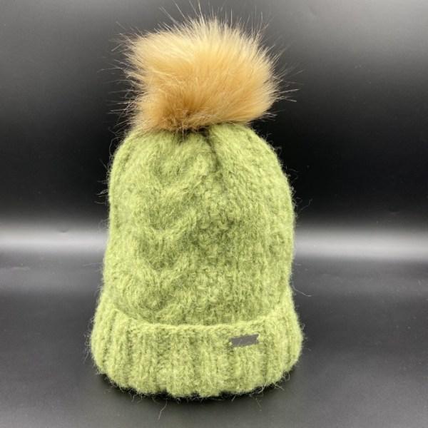 Gorro alpaca trenza verde ARMATTA 5