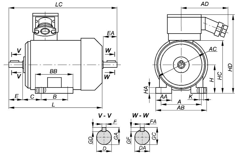 Взрывозащищенные электродвигатели ВА