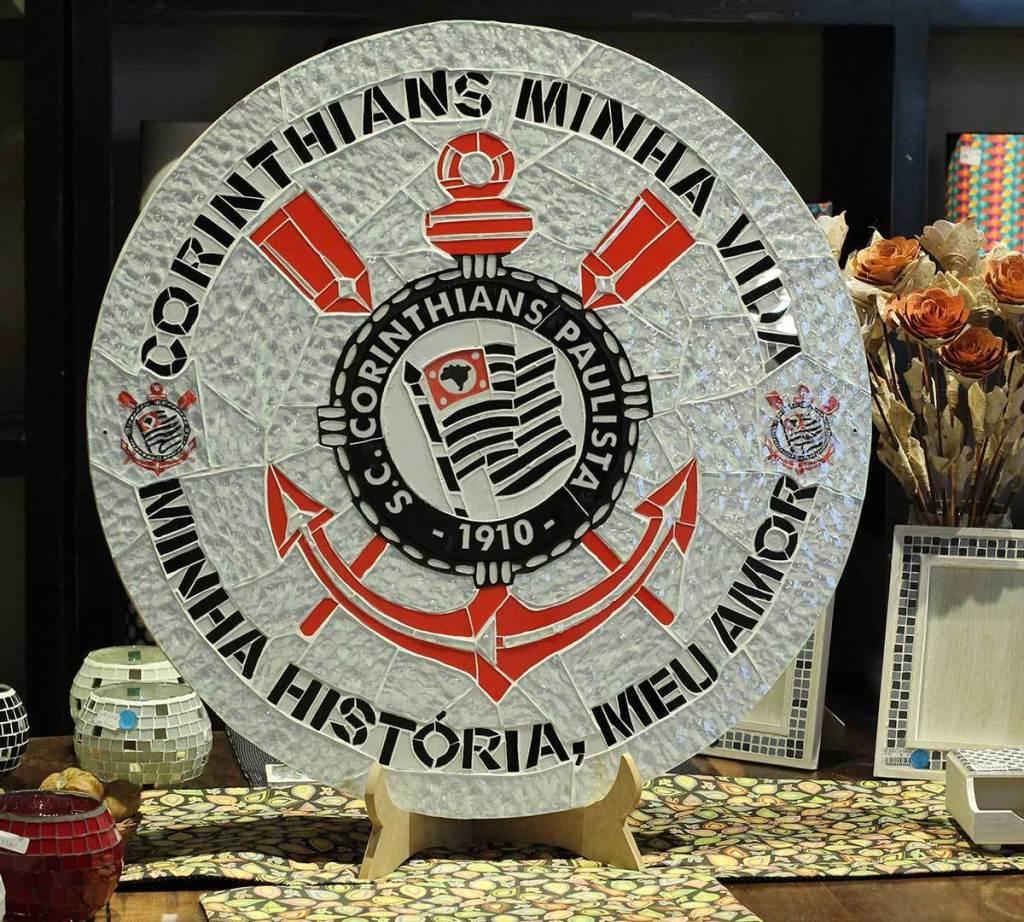 ESCUDO CORINTHIANS EM VITRAL