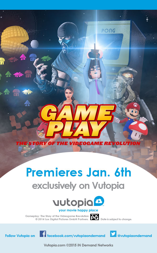 "Videogame Documentary ""Gameplay"" Premieres Exclusively on Vutopia in January!"
