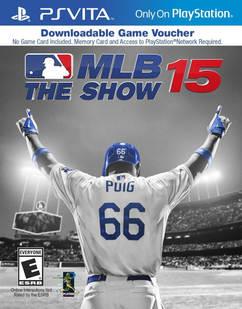 MLB 15 The Show for the PlayStation Vita is just a box with a digital download voucher in its retail release.