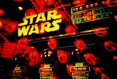 Star Wars at the casino. Image by Lomo-Cam.
