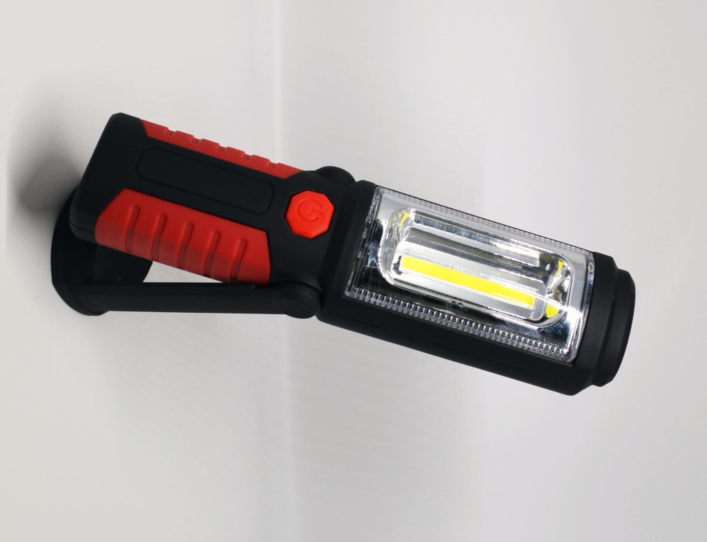 The Aennon LED Work Light Flashlight can stick, hang, or stand just about anywhere.
