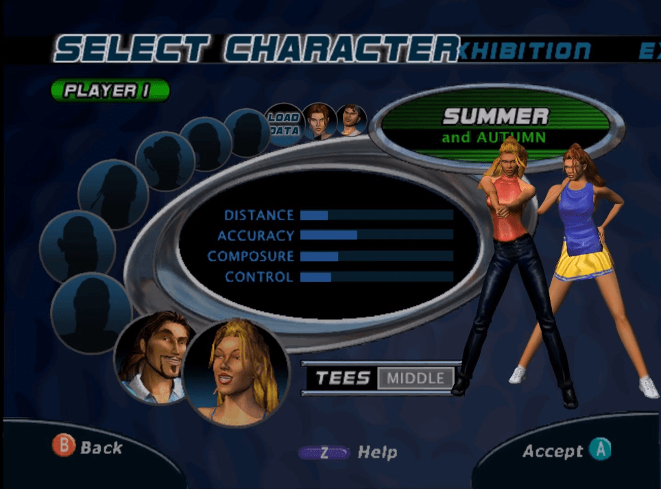 The character selection screen gives a good idea of what you're in for.