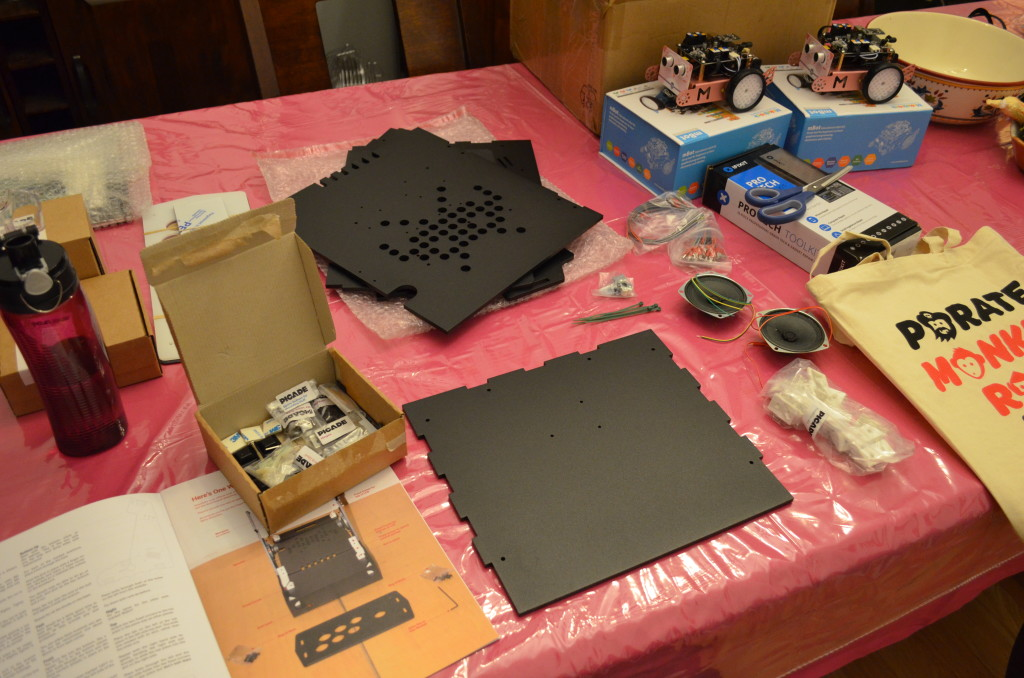 I'm getting the components ready for the first part of the build, which is the base.