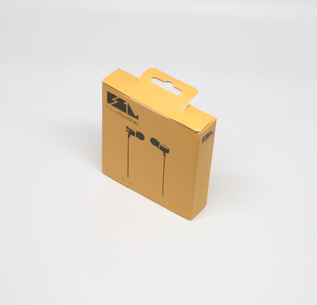The packaging for the FSL Xylem Wood Headphones.