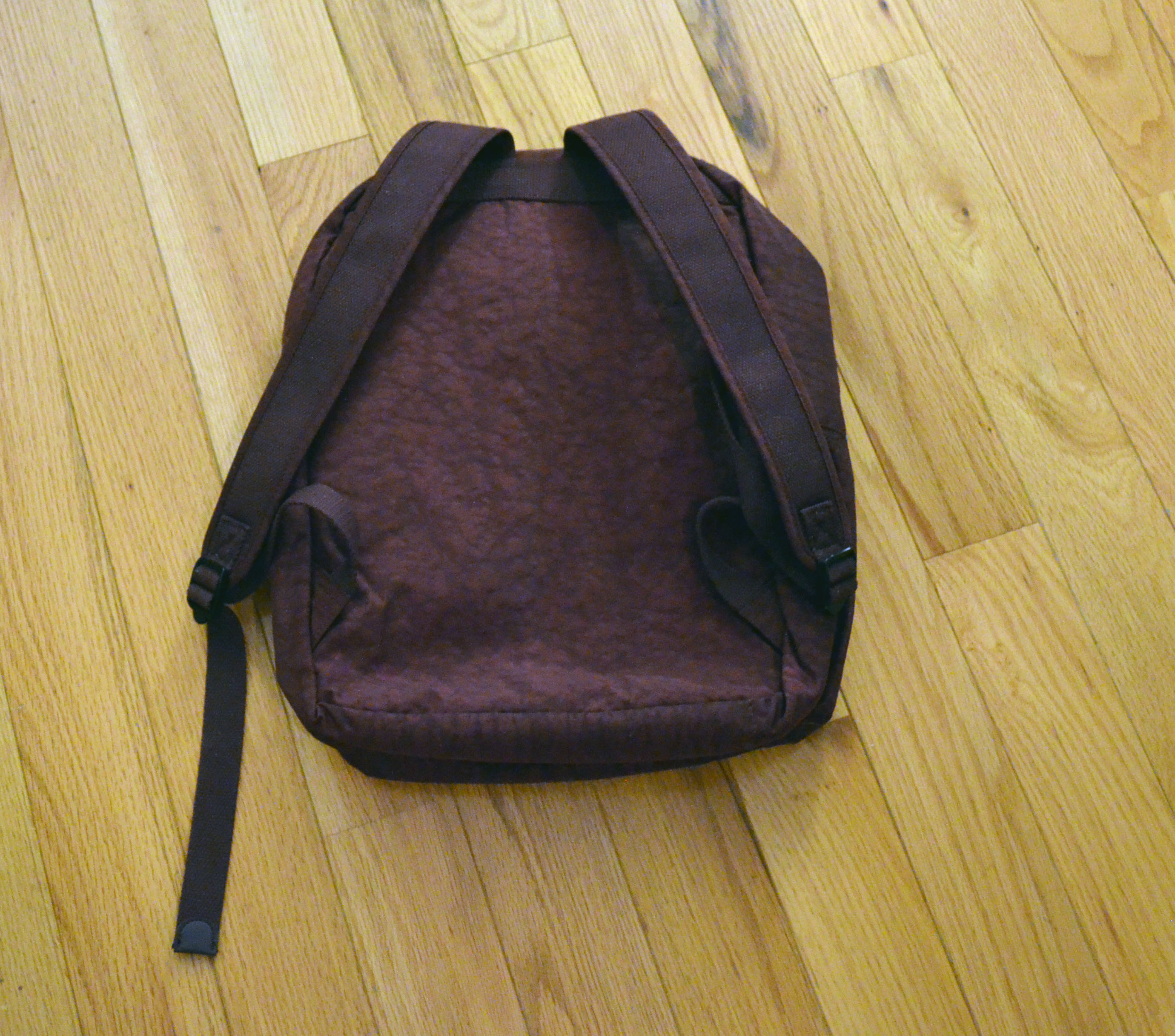 The rear of the backpack.