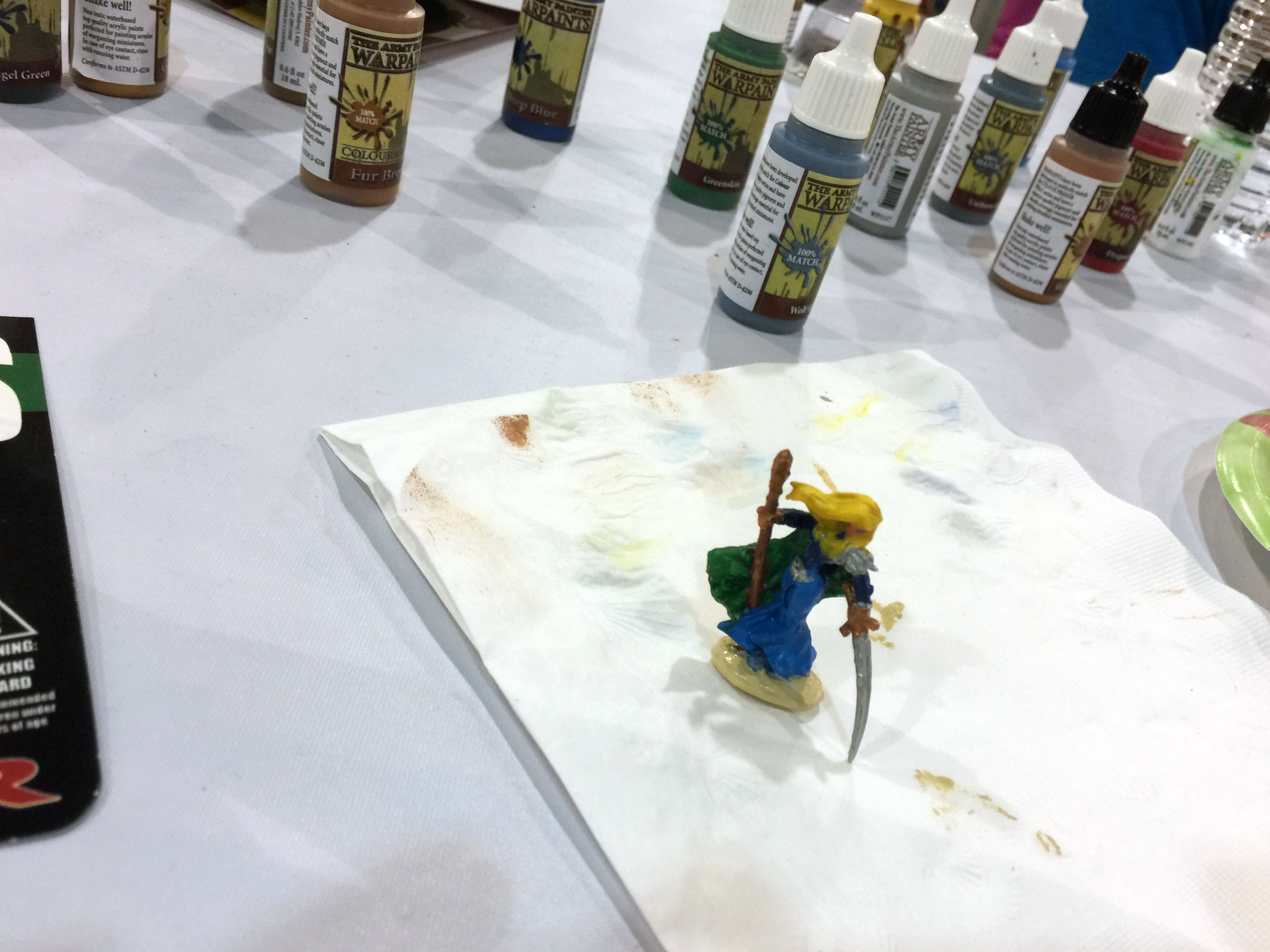 Painting our miniatures.