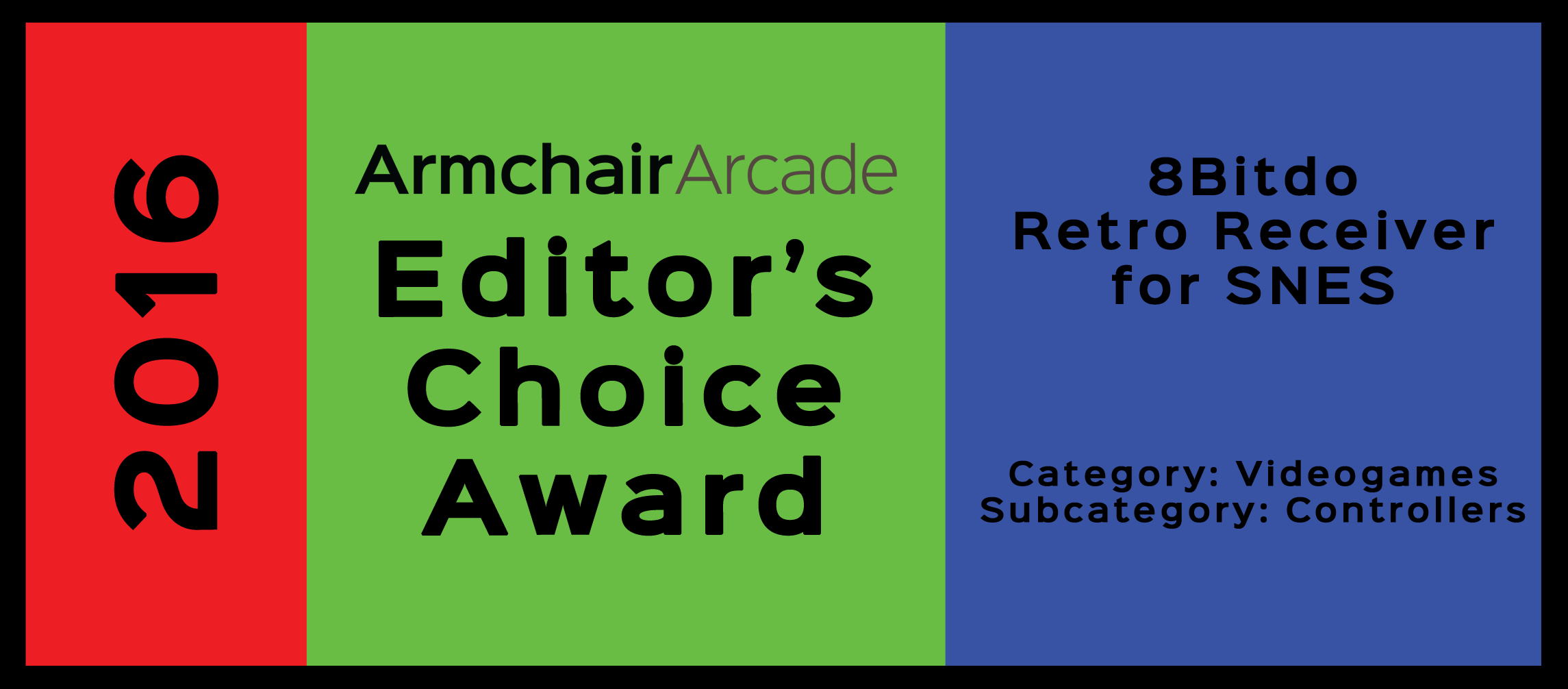 Armchair Arcade Editor's Choice Award 2016: 8bitdo Retro Receiver for SNES
