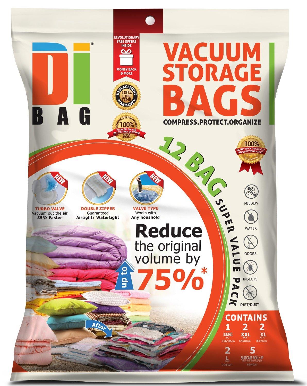 DIBAG 12 Bags Pack Set - Vacuum Storage Space Saver Bags