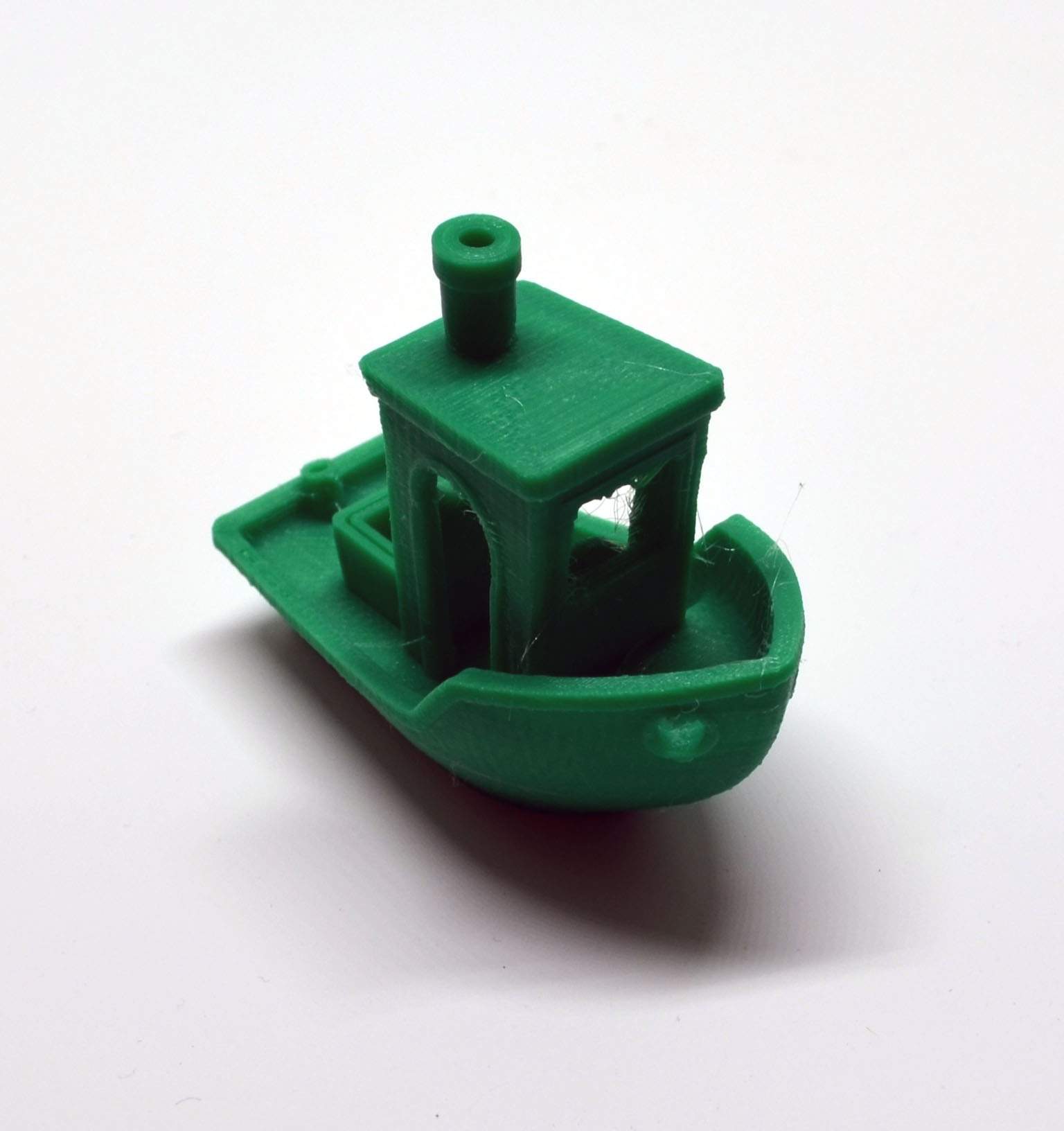 The front of the 3DBenchy. I still have some post print clean-up to do to remove the stringing in the open areas, but overall it came out as a nice, clean print.