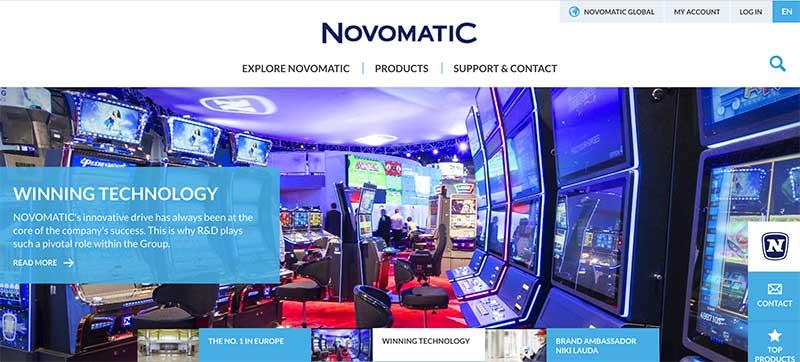 The Novomatic site.