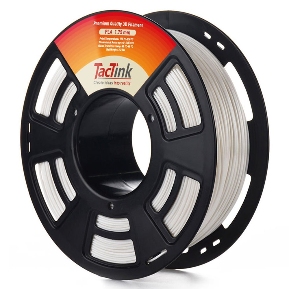 Tactink WHITE PLA 3D printing filament