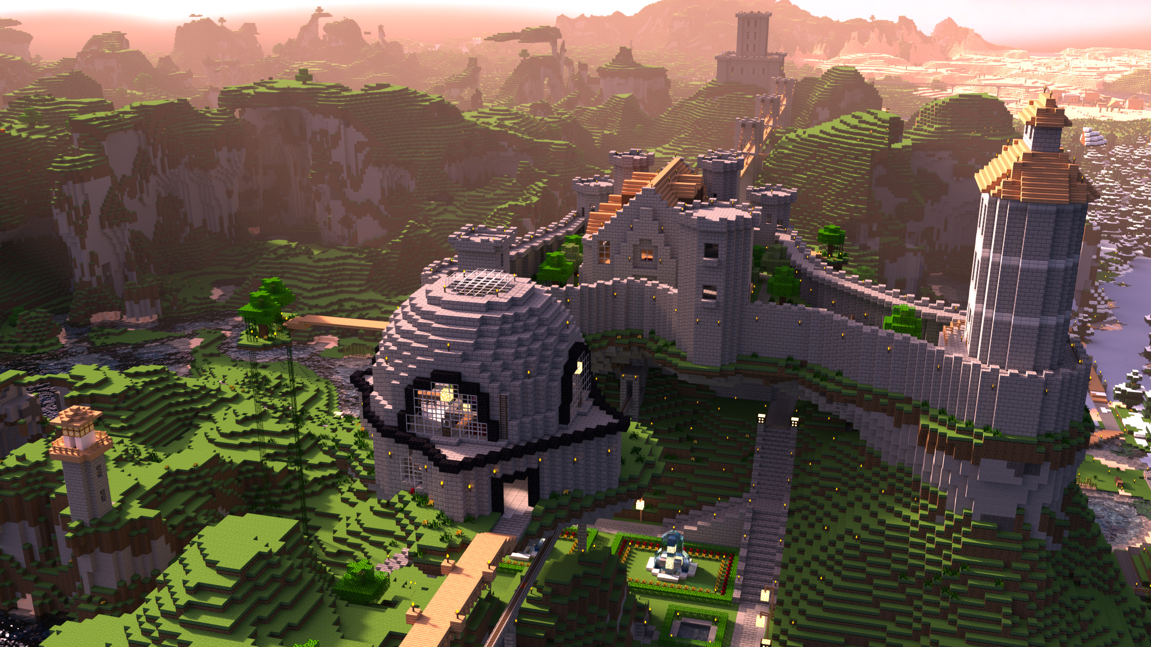 MInecraft in 4K HDR on Xbox One X