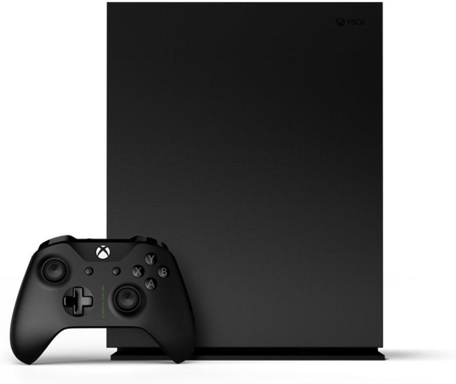 Microsoft's Xbox One X.
