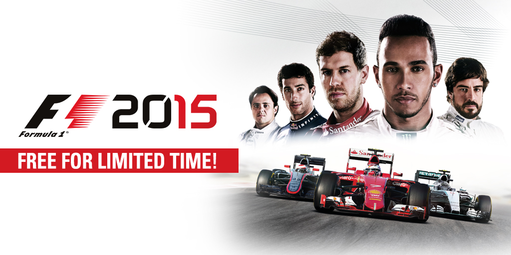 Free copies of F1 2015 on Steam for the next 48 hours!