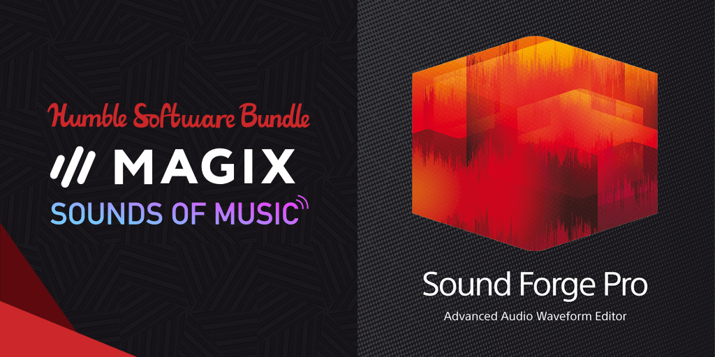 Name your own price for SOUND FORGE Pro 11, ACID Pro 7, Samplitude Pro X2 Silver, and more in Humble Software Bundle: MAGIX Sounds of Music