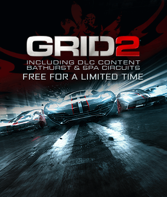 Hurry to get your free copy of GRID2 plus Bathurst and Spa Circuits DLC for Steam!