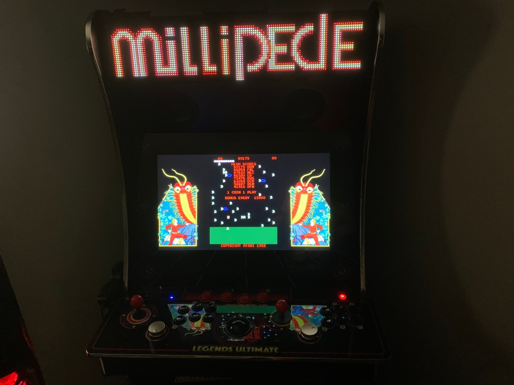 Millipede on the Legends Ultimate with Pixelcade