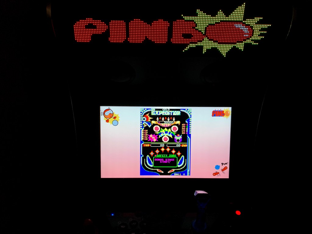 Pinbo on the Legends Ultimate running PixelcadeX