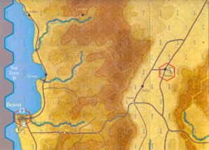 Forgotten Legions Drive on Damascus Map Detail Color
