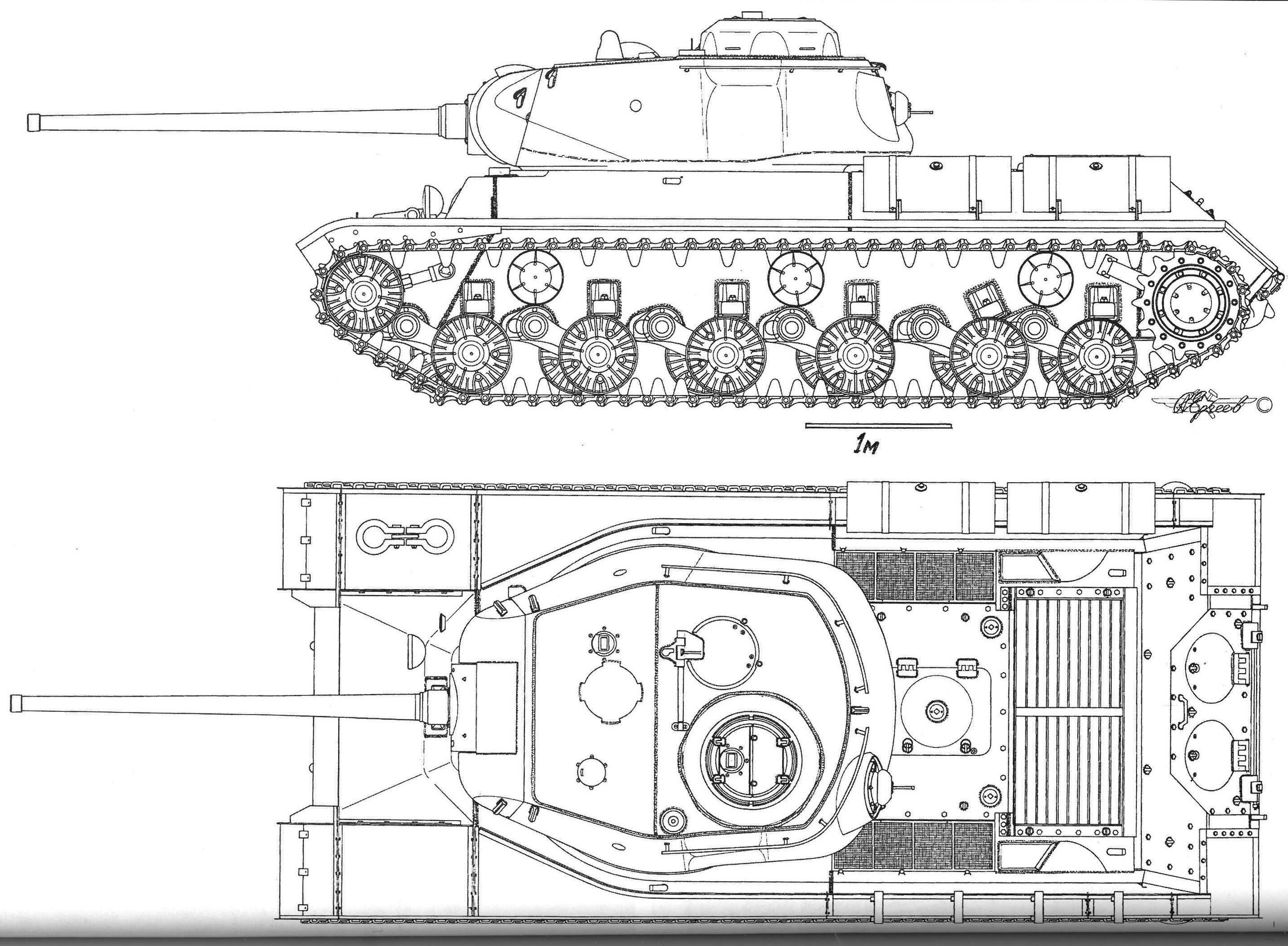 IS-1 (IS-85). Blueprints