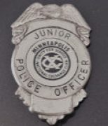 My junior police officer badge, earned in elementary school.