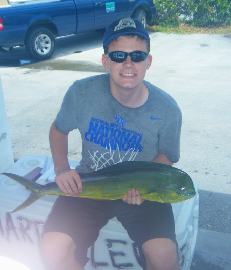 My boy and his fish . . .