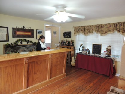 The tasting room . . . and Kathy!
