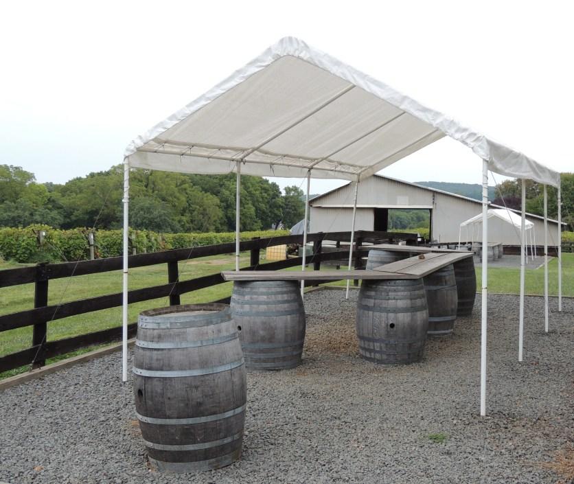 There are several of these remote tasting stations located outside.