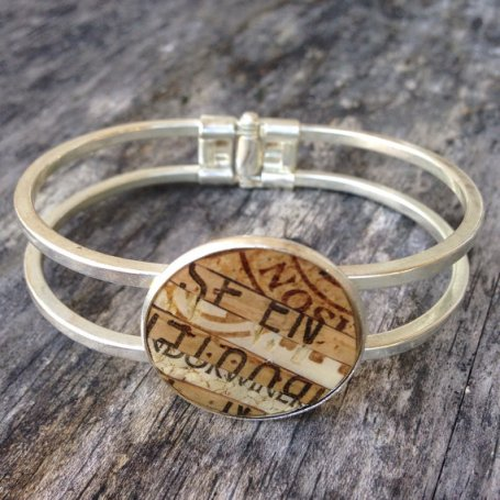 Recycled Wine Cork Cuff Bracelet
